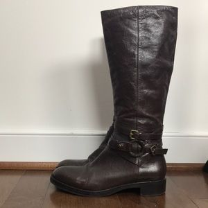 Via Spiga SZ8 Brown Tall Boots Excellent Condition